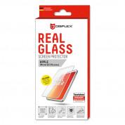 Displex Real Glass 10H Protector 3D Full Cover - калено стъклено защитно покритие за дисплея на iPhone 8, iPhone 7, iPhone 6S (бял-прозрачен) 1