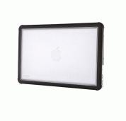 STM Dux Rugged Case - удароустойчив хибриден кейс за Apple MacBook Air 13 (черен-прозрачен) 1