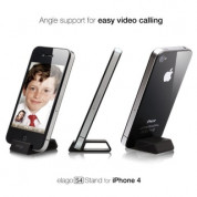 Elago S4 Stand (aluminum) Black for iPhone 4/4S and Samsung Galaxy S3, S3 Neo (Angle support for FaceTime)