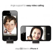 Elago S4 Stand (aluminum) Black for iPhone 4/4S and Samsung Galaxy S3, S3 Neo (Angle support for FaceTime) 1