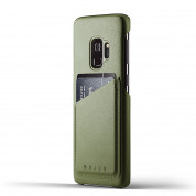 Mujjo Leather Wallet Case for Samsung Galaxy S9 (olive)