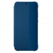 Huawei Smart View Cover - оригинален кожен калъф за Huawei P20 Lite (син)