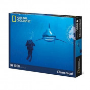 National Geographic by Clementoni 39303 Whitetip Shark Puzzle 1000 pcs. - пъзел съставен от 1000 части