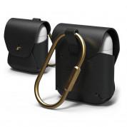Elago Airpods Leather Case - кожен калъф (ествествена кожа) за Apple Airpods (черен)