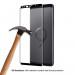 Eiger 3D Glass Edge to Edge Curved Tempered Glass - калено стъклено защитно покритие с извити ръбове за целия дисплея на Samsung Galaxy S9 (черен-прозрачен) 4