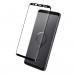 Eiger 3D Glass Edge to Edge Curved Tempered Glass - калено стъклено защитно покритие с извити ръбове за целия дисплея на Samsung Galaxy S9 (черен-прозрачен) 3