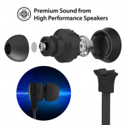 iLuv Neon Air 2 Wireless In-Ear Earphones - безжични спортни блутут слушалки за мобилни устройства (черен) 3