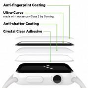 Belkin ScreenForce UltraCurve Screen Protector - калено стъклено защитно покритие с извити ръбове за целия дисплея на Apple Watch Series 3/2 38 mm (черен-прозрачен) 3