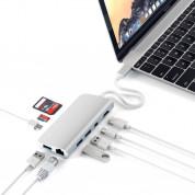 Satechi USB-C Multimedia Adapter - мултифункционален хъб за свързване на допълнителна периферия за MacBook Pro (сребрист) 3