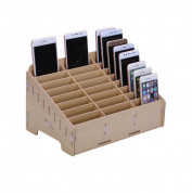 Multifunctional Mobile Phone Repair Tool Box Wooden Storage Box (24 slots) (brown)