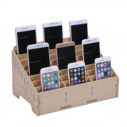 Multifunctional Mobile Phone Repair Tool Box Wooden Storage Box (24 slots) (brown) 1