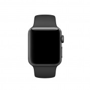 Apple Sport Band S/M & M/L - оригинална силиконова каишка за Apple Watch 42мм, 44мм (черен) (Apple Box) (reconditioned) 2
