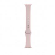 Apple Sport Band S/M & M/L - оригинална силиконова каишка за Apple Watch 38мм, 40мм (бледа роза) (Apple Box) 2