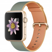 Apple 42mm Royal Blue Gold 316L Gold Stainless Steel Buckle - оригинална текстилна каишка за Apple Watch 42мм (Apple Box) 1