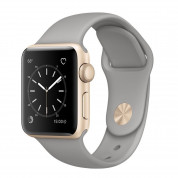 Apple Sport Band S/M & M/L - оригинална силиконова каишка за Apple Watch 38мм, 40мм (сив) (reconditioned) (Apple Box) 1