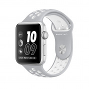 Apple Watch Nike+ Sport Band - оригинална силиконова каишка за Apple Watch 38мм, 40мм (сив-бял) (reconditioned) (Apple Box) 1