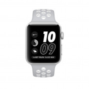Apple Watch Nike+ Sport Band - оригинална силиконова каишка за Apple Watch 38мм, 40мм (сив-бял) (reconditioned) (Apple Box) 2