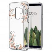 Spigen Liquid Crystal Blossom Nature Case - тънък качествен термополиуретанов кейс за Samsung Galaxy S9 Plus (прозрачен) 5