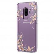 Spigen Liquid Crystal Blossom Nature Case - тънък качествен термополиуретанов кейс за Samsung Galaxy S9 Plus (прозрачен) 2