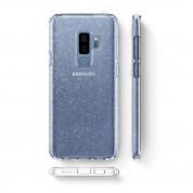 Spigen Liquid Crystal Glitter Case - тънък качествен термополиуретанов кейс за Samsung Galaxy S9 Plus (прозрачен)  2