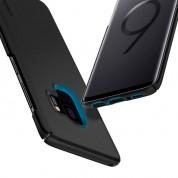 Spigen Thin Fit Case - качествен тънък матиран кейс за Samsung Galaxy S9 (черен) 1