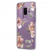 Spigen Liquid Crystal Blossom Flower Case - тънък силикнов (TPU) калъф за Samsung Galaxy S9 Plus (прозрачен) 4