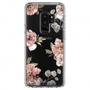 Spigen Liquid Crystal Blossom Flower Case - тънък силикнов (TPU) калъф за Samsung Galaxy S9 Plus (прозрачен) 2