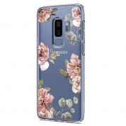 Spigen Liquid Crystal Blossom Flower Case - тънък силикнов (TPU) калъф за Samsung Galaxy S9 Plus (прозрачен) 1