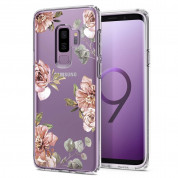 Spigen Liquid Crystal Blossom Flower Case - тънък силикнов (TPU) калъф за Samsung Galaxy S9 Plus (прозрачен)
