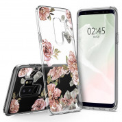 Spigen Liquid Crystal Blossom Flower Case - тънък силикнов (TPU) калъф за Samsung Galaxy S9 Plus (прозрачен) 5