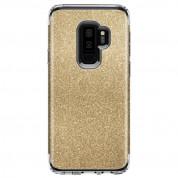 Spigen Slim Armor Glitter Case - хибриден кейс с най-висока степен на защита за Samsung Galaxy S9 Plus (златист) 1