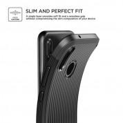 Verus Single Fit Label Case - хибриден удароустойчив кейс за Huawei P20 Lite (черен) 4