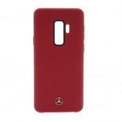 Mercedes-Benz Liquid Silicone Case for Samsung Galaxy S9 Plus (red)