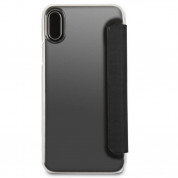 Mini Cooper Debossed Lines PU Leather Booktype Case - кожен калъф, тип портфейл за iPhone XS, iPhone X (черен) 6