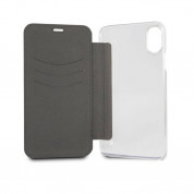 Mini Cooper Debossed Lines PU Leather Booktype Case - кожен калъф, тип портфейл за iPhone XS, iPhone X (черен) 5