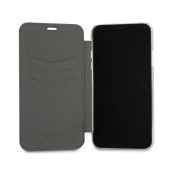 Mini Cooper Debossed Lines PU Leather Booktype Case - кожен калъф, тип портфейл за iPhone XS, iPhone X (черен) 3