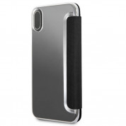 Mini Cooper Debossed Lines PU Leather Booktype Case - кожен калъф, тип портфейл за iPhone XS, iPhone X (черен) 4