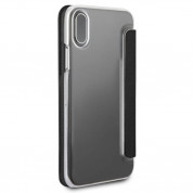 Mini Cooper Debossed Lines PU Leather Booktype Case - кожен калъф, тип портфейл за iPhone XS, iPhone X (черен) 7