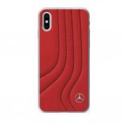 Mercedes-Benz New BOW II Hard Case - кожен кейс (естествена кожа) за iPhone X (червен)