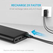 Anker PowerCore 26800 mAh с PowerIQ и VoltageBoost - преносима външна батерия с 3 USB изхода за зареждане и 2 microUSB входа за презареждане (черен) 4
