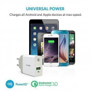 Anker PowerPort+ 1 18W Quick Charge 3.0 USB Charger with PowerIQ (White) 3