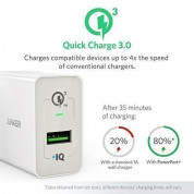 Anker PowerPort+ 1 18W Quick Charge 3.0 USB Charger with PowerIQ (White) 1