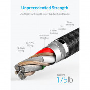 Anker Powerline+ II Lightning Lightning cable 1.8m - сертифициран Lightning кабел за iPhone, iPad и iPod с Lightning (1.8 м) (черен) 2