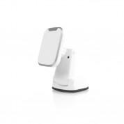 AIRNANO Pad QI Fast Wireless Car Mount - поставка за кола с възможност за безжично зареждане за QI съвместими смартфони (бял)