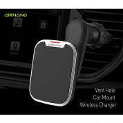 AIRNANO Pad QI Fast Wireless Car Vent Holder for Qi Enabled Smartphones (black) 1