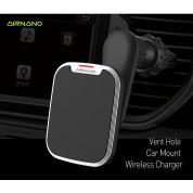 AIRNANO Pad QI Fast Wireless Car Vent Holder - поставка за радиатори на кола с възможност за безжично зареждане за QI съвместими смартфони (черен) 1