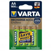 VARTA Rech.Battery Endless AA - 4 броя презареждаеми батерии AA 1900mAh