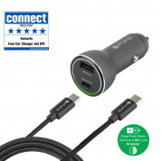 4smarts Fast Car Charger Set iPD for devcies with USB-C port (black) 1