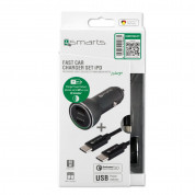 4smarts Fast Car Charger Set iPD for devcies with USB-C port (black) 7