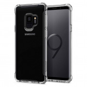 Spigen Rugged Crystal - термополиуретанов кейс с най-висока степен на защита за Samsung Galaxy S9 (прозрачен) 1